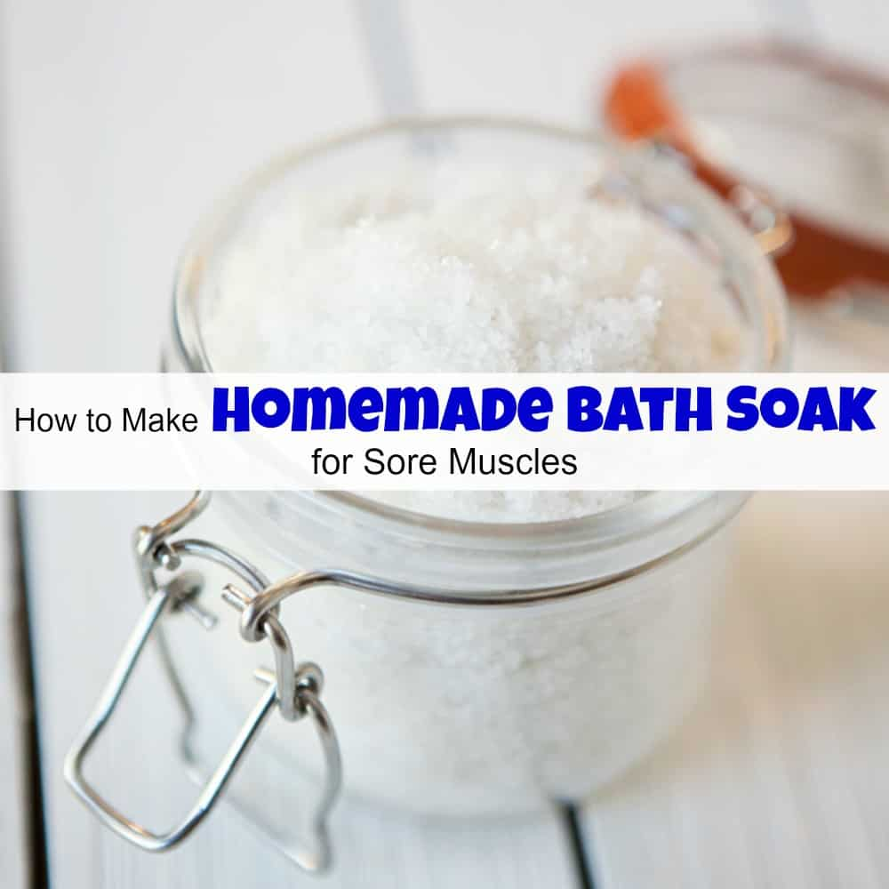 Homemade Bath Soak for Sore Muscles
