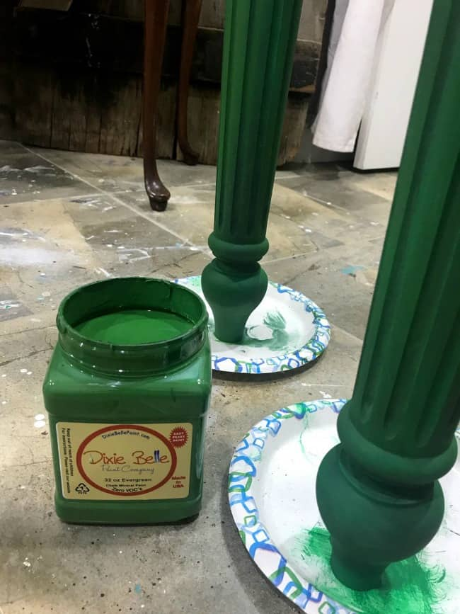 How To Build A Diy Wood Table And Paint It Gorgeous Green
