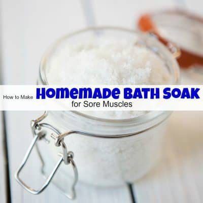 How to Make Homemade Bath Soak for Sore Muscles