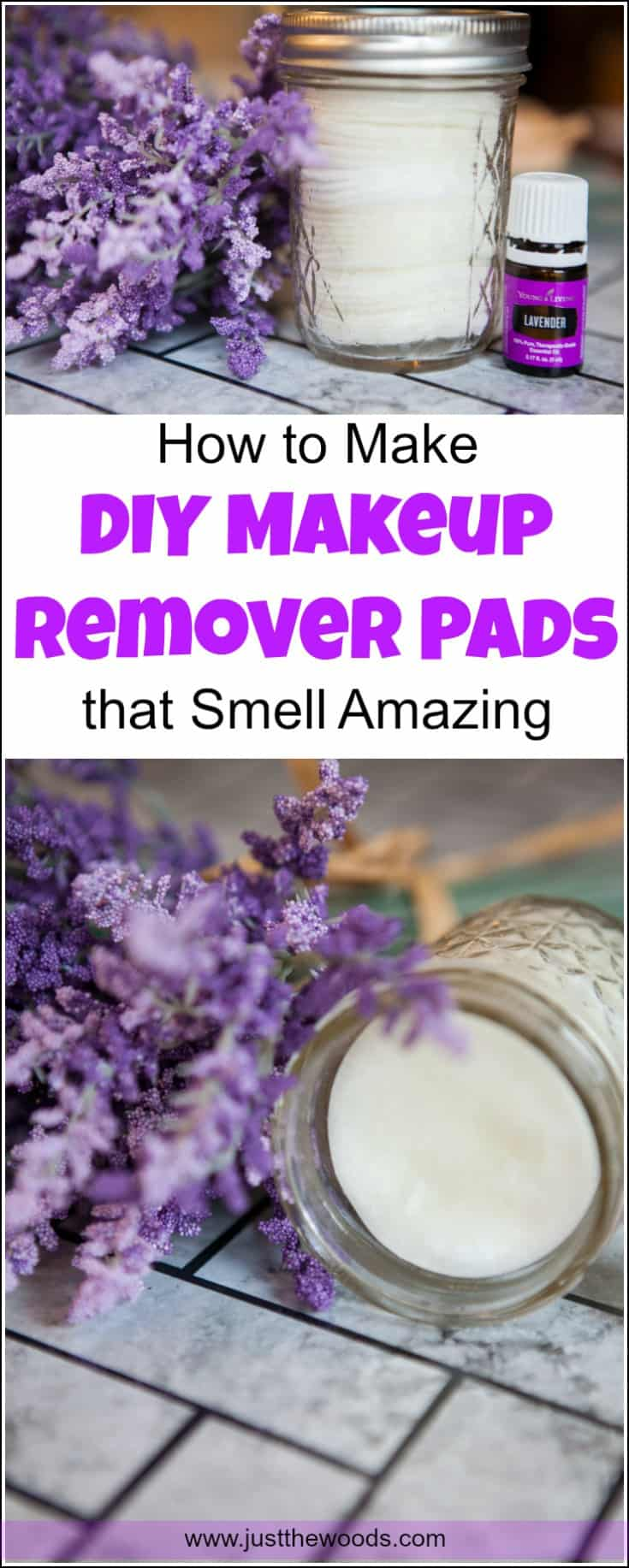How to Make DIY Makeup Remover Pads with natural ingredients and essential oils. These homemade makeup remover wipes will leave you feeling clean and fresh without chemicals. Make your own makeup remover at home with this homemade eye makeup remover recipe. DIY makeup wipes, how to make makeup remover.