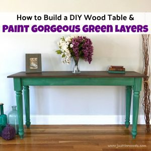 How to Build a DIY Wood Table and Paint it Perfectly Pretty