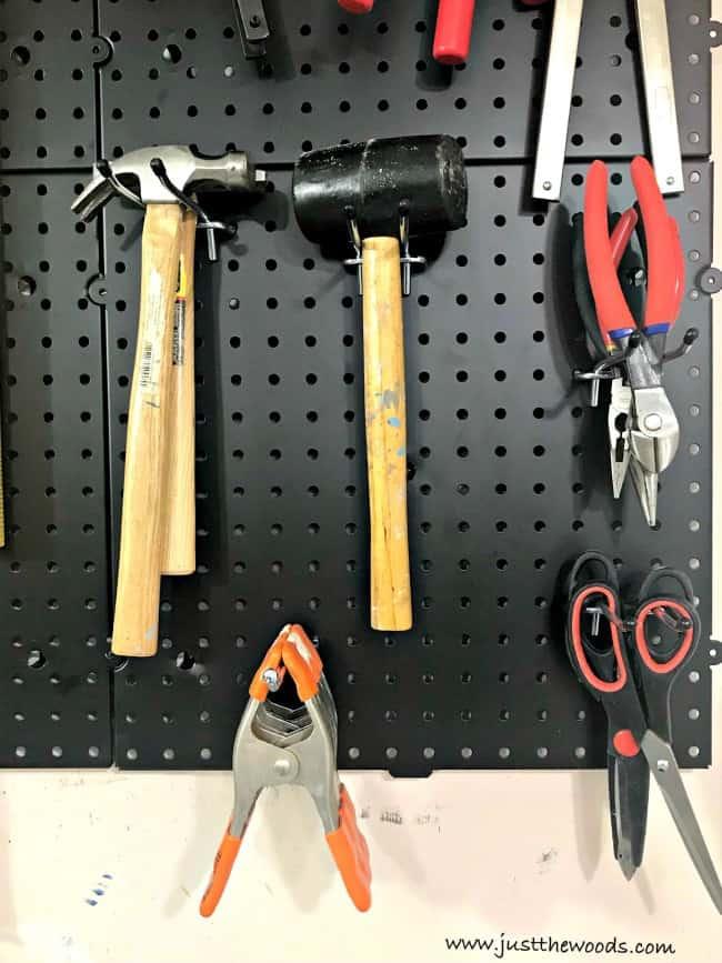 hammers, pegboard tool organization ideas, pegboard tool organizer, organizing tools, pegboard wall, Tool pegboard, pegboard tool holder, pegboard tool storage, tool pegboard ideas, pegboard storage, tool hanging board, pegboards, peg board organizer