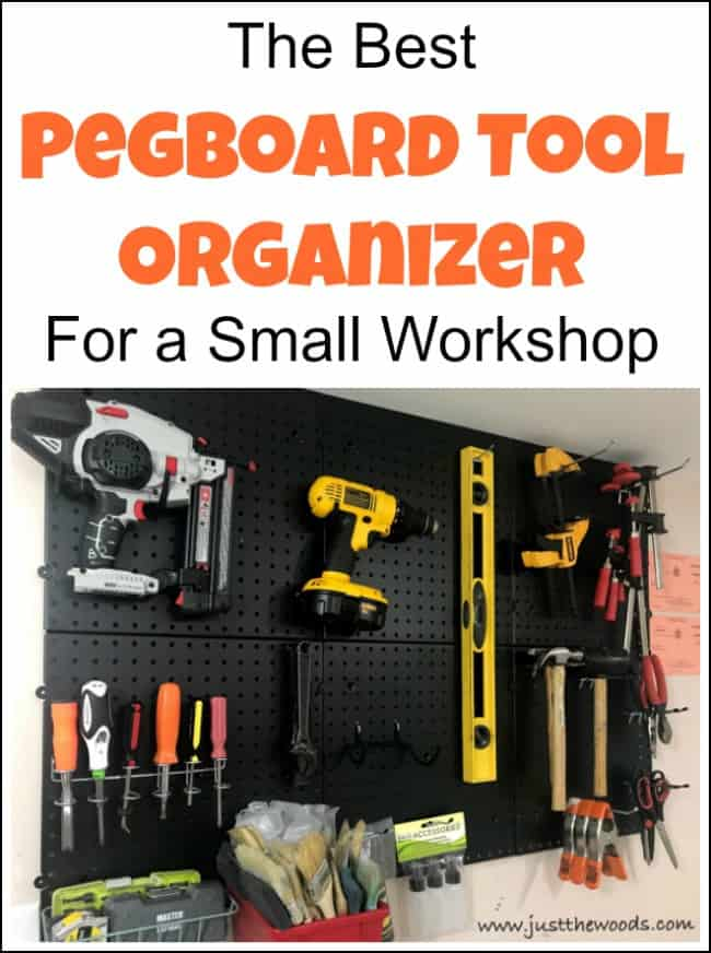When looking for pegboard tool organization ideas this pegboard tool organizer is perfect for organizing tools on a pegboard wall with limited space. Tool pegboard, pegboard tool holder, pegboard tool storage, tool pegboard ideas, pegboard storage, tool hanging board, pegboards, peg board organizer