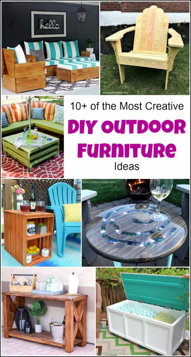 10+ of the Most Creative DIY Outdoor Furniture Ideas Furniture Make At Home on office at home, litter at home, golf at home, shopping at home, internet service at home, floor at home, jewelry at home, art at home, security at home, cell phones at home, desk at home, table at home, internet connection at home, storage at home, cars at home, metalworking at home, landscaping at home,