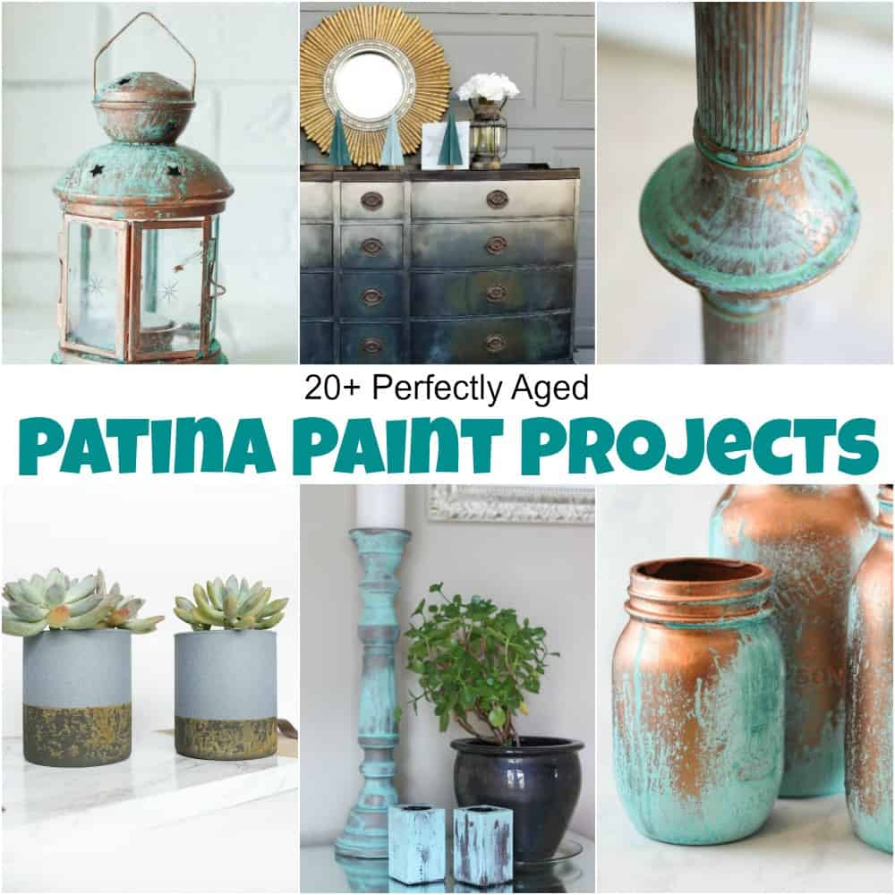 patina paint projects, patina paint, how to paint with patina