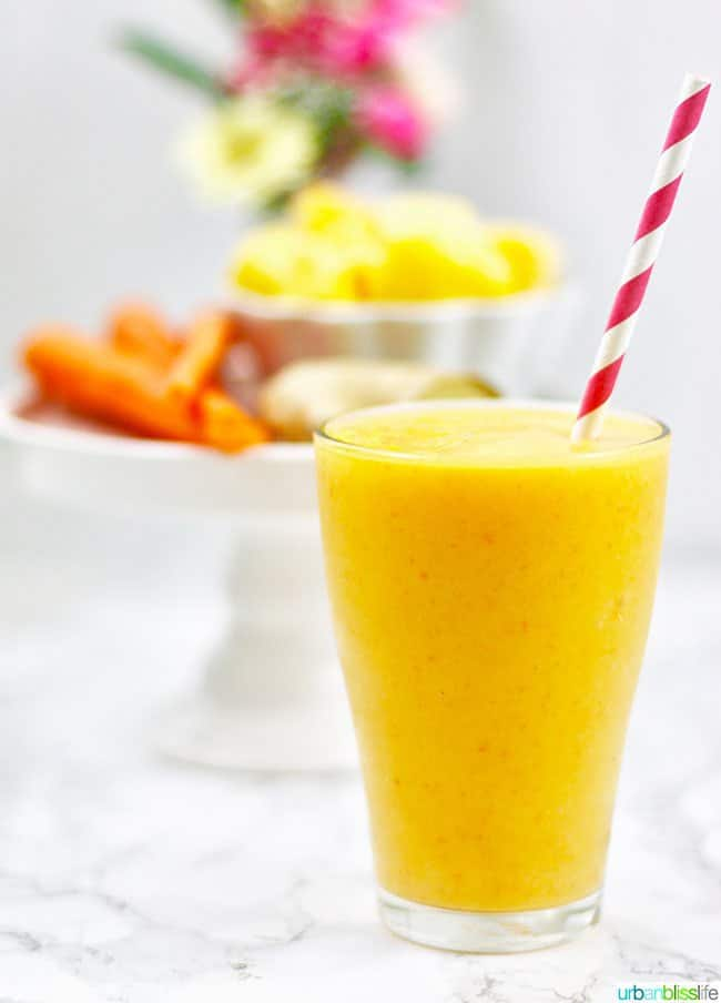 easy healthy smoothie recipes, mango carrot smoothie, healthy smoothie recipes,