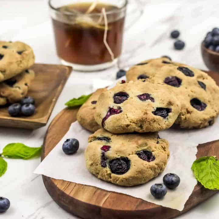 Paleo Lemon Blueberry Scones Recipe