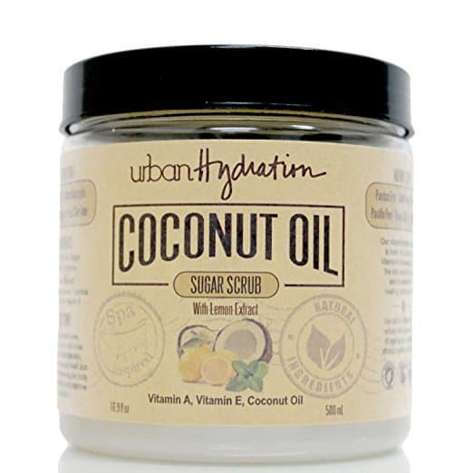 coconut oil sugar scrub, lemon sugar scrub