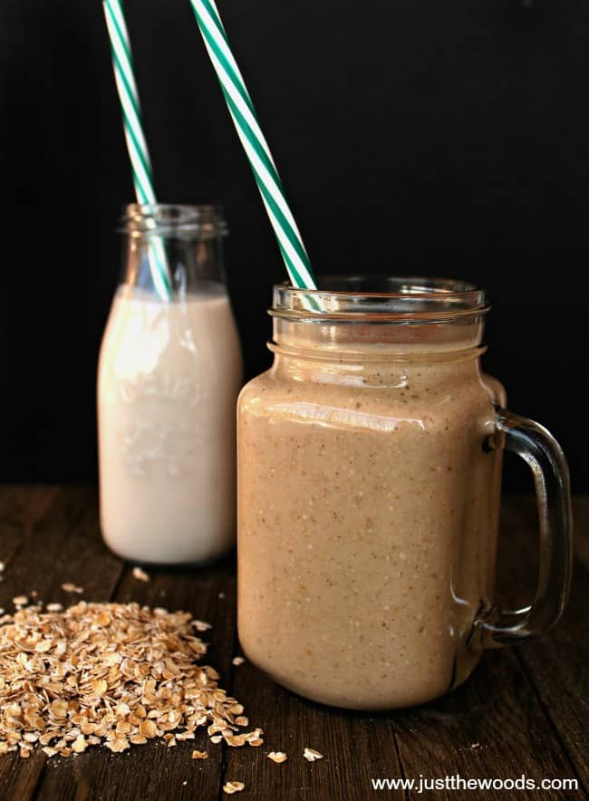 easy healthy smoothie recipes, banana smoothie recipes, almond milk smoothie, quick smoothie recipes