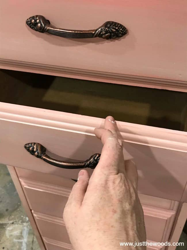 gilding wax on painted furniture