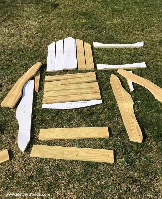 Build Adirondack Chairs, template for DIY adirondack chairs, adirondack chair plans free