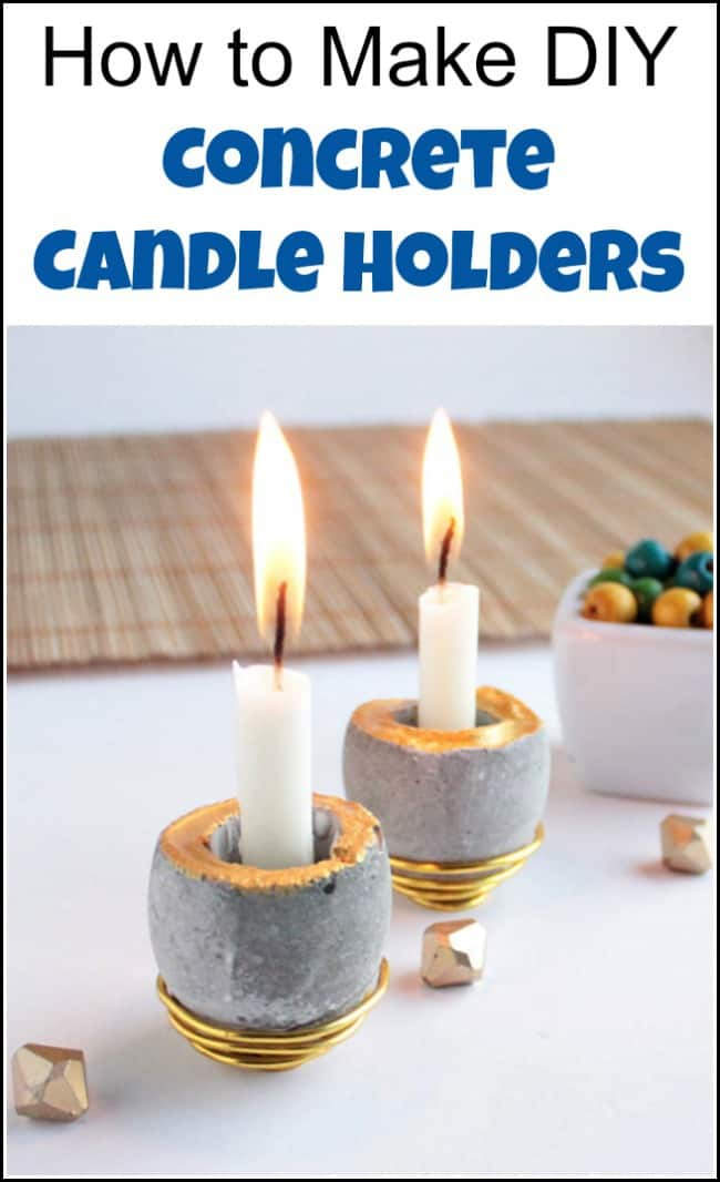See how easy it is to make concrete candle holders. DIY concrete projects are fun with simple cement molds using eggshells. Learn how to make a candle holder the easy way with DIY cement. #diyconcrete #concretecandleholders #concreteprojects #cementprojects #cementmolds #DIYconcreteprojects #DIYcementprojects #cementmolds #candleholder