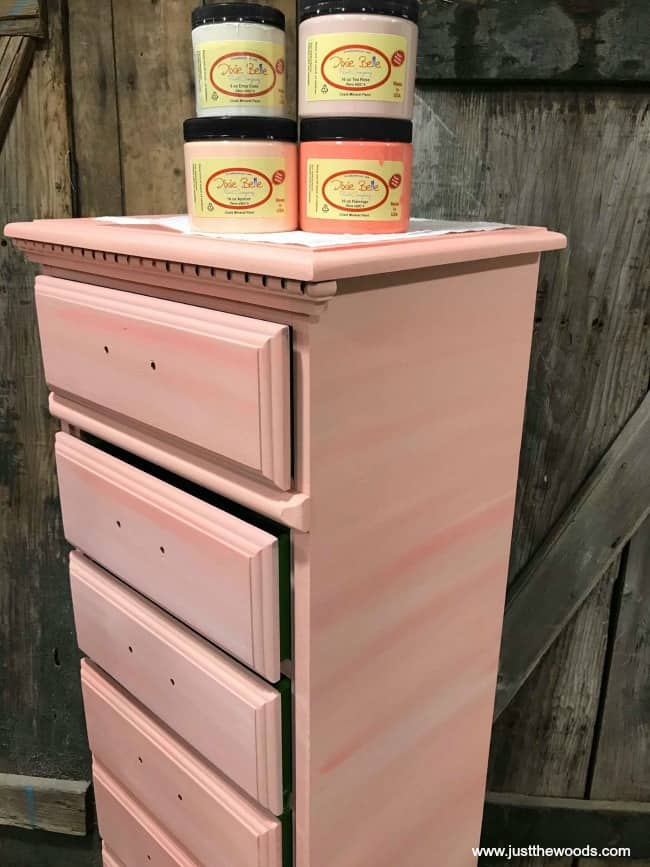 dixie belle paint, paint layers, painted lingerie chest, tall lingerie chest, vintage lingerie chest