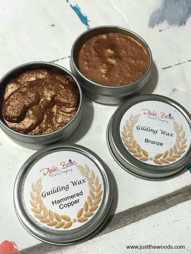 gilding wax, bronze gilding wax, copper gilding wax, how to apply gilding wax