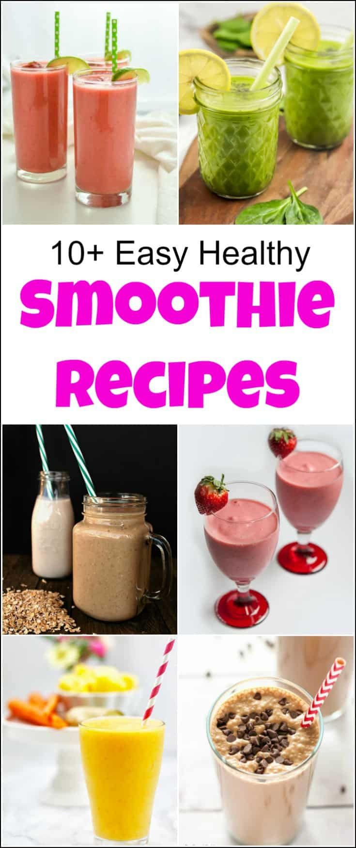Great variety of easy healthy smoothie recipes, including fruit smoothies and many simple healthy smoothie recipes that your whole family will love. Get ready to see how to make healthy smoothies with these delicious healthy smoothies. These nutritious smoothies are packed with fruit, protein and are healthy for all. #healthysmoothies #easysmoothierecipes #healthysmoothierecipes #easyhealthysmoothierecipes #smoothie #smoothierecipes