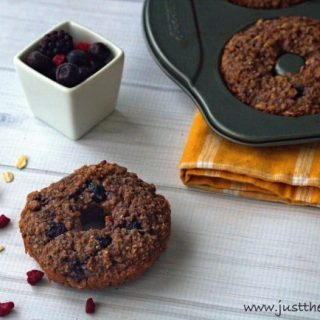 Healthy Donut Recipe with Berries