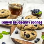 How to Make Delicious Paleo Lemon Blueberry Scones