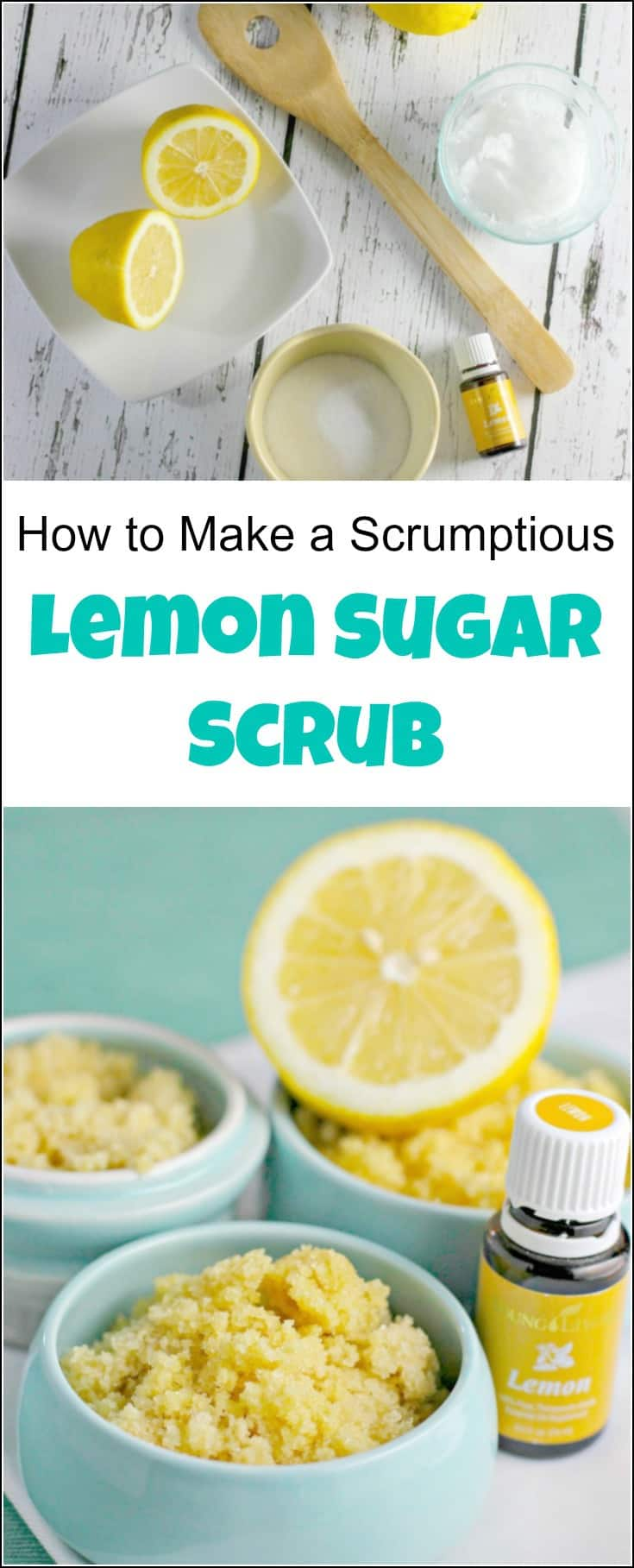 Make this amazing lemon sugar scrub in no time with 3 simple ingredients. This lemon sugar scrub recipe makes the best natural lemon exfoliator. Lemon scrub, sugar and lemon scrub, lemon and sugar, lemon body scrub, lemon sugar face scrub, lemon face scrub, sugar hand scrub, lemon scrub DIY, DIY lemon sugar scrub