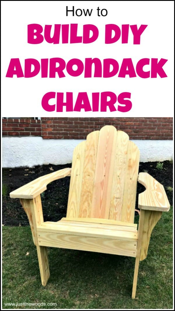 See how to build Adirondack chairs from scratch. Find free Adirondack chair plans for making Adirondack chairs for your yard to enjoy with your family for years to come. This DIY Adirondack chair is both sturdy and comfortable. Use these easy Adirondack chair plans and learn how to build an Adirondack chair. #diyadirondackchair #powertoolchallenge #buildadirondackchair