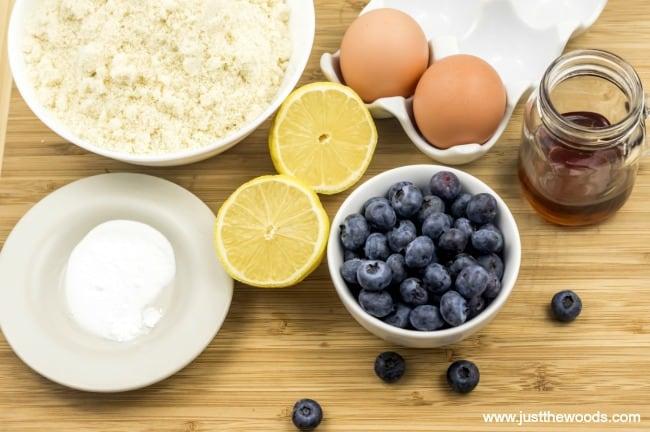 blueberry scones ingredients, lemon blueberry scones, blueberry scone recipe, paleo scones