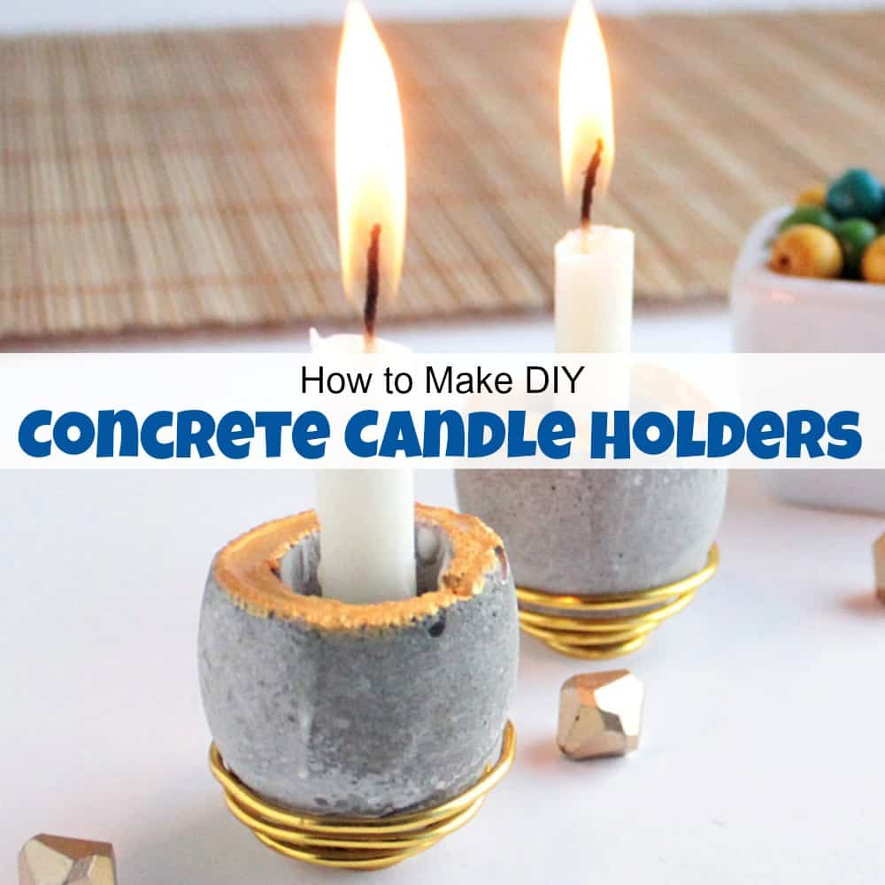 how to make diy concrete candle holders the easy way. Black Bedroom Furniture Sets. Home Design Ideas