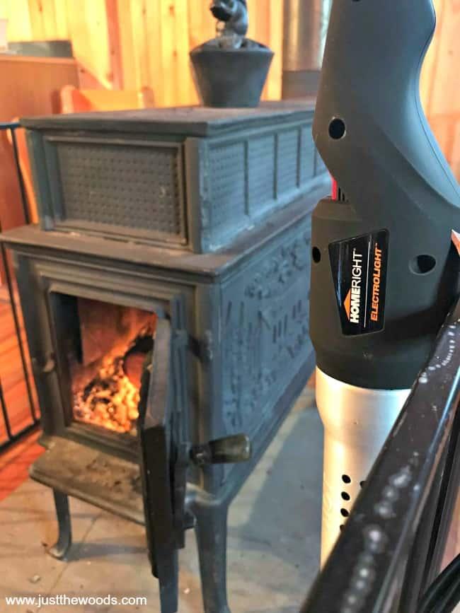 Hot to light wood burning stove, homeright fire starter, homeright electrolight