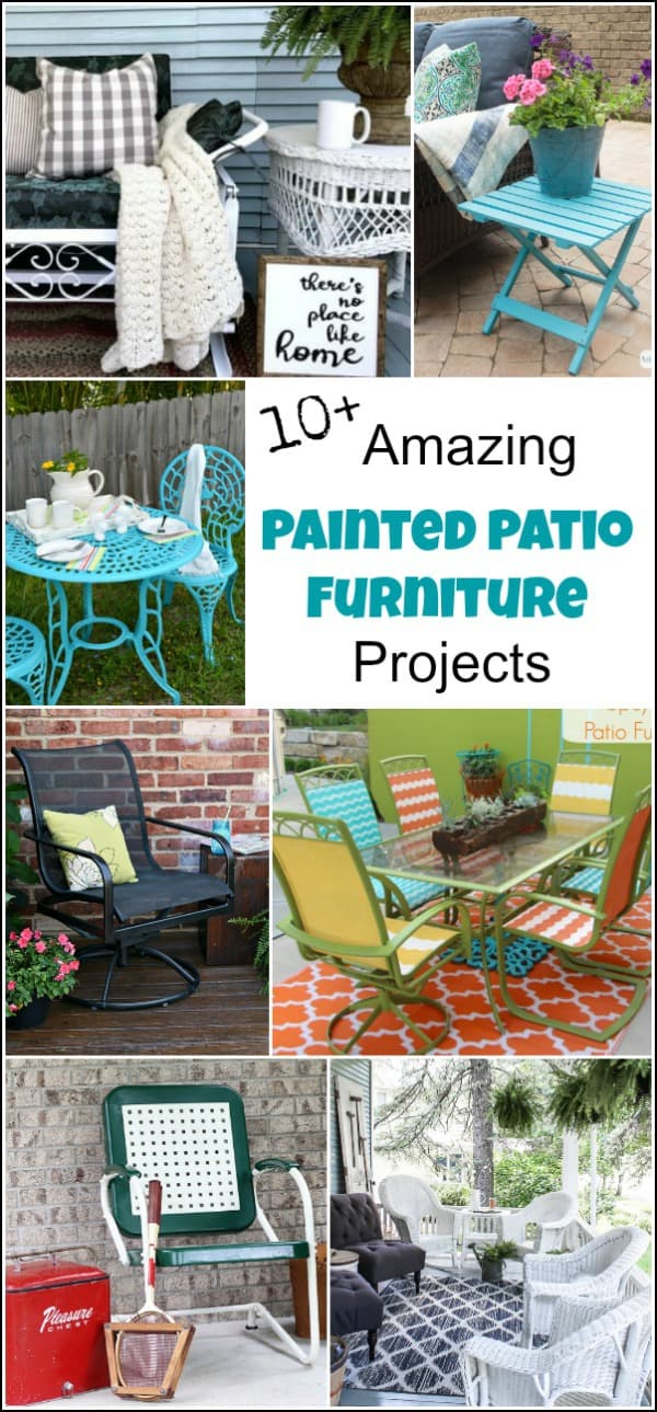 painted outdoor chairs, painted metal chairs, painted plastic chairs