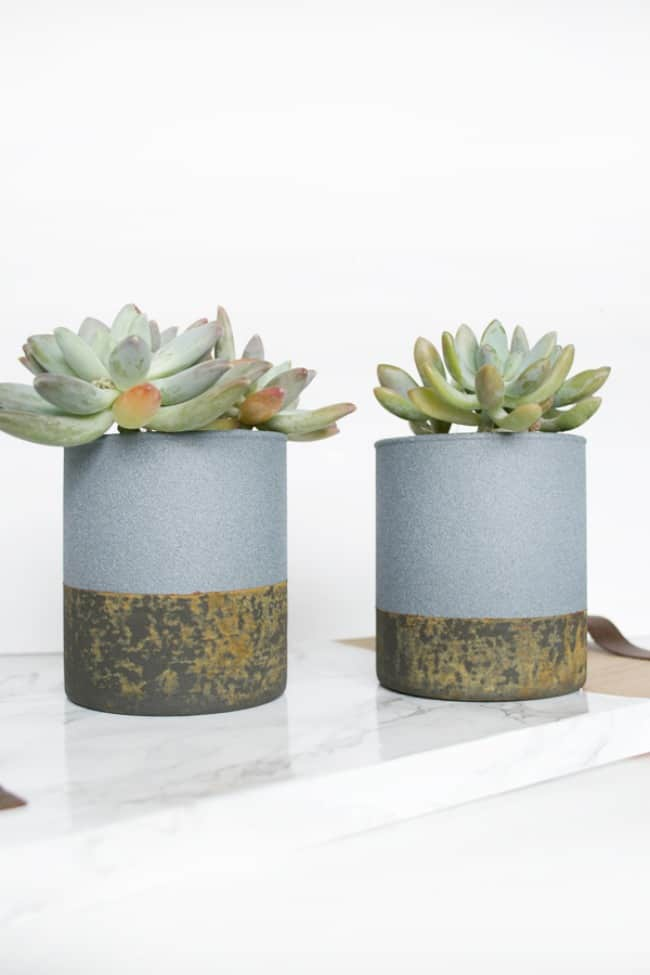 patina concrete planters, Patina paint projects are perfect for those who love that aged patina effect. Not everyone loves shiny and new. Some of us are more drawn to old things. Patina paint can be used to age your furniture and create a worn metallic finish. Use a patina paint job on your next DIY creation for a worn aged look. #patinapaint #patinapaintjob #copperpatinapaint