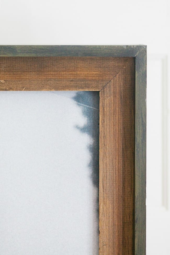 paint and patina, patina picture frame, diy patina