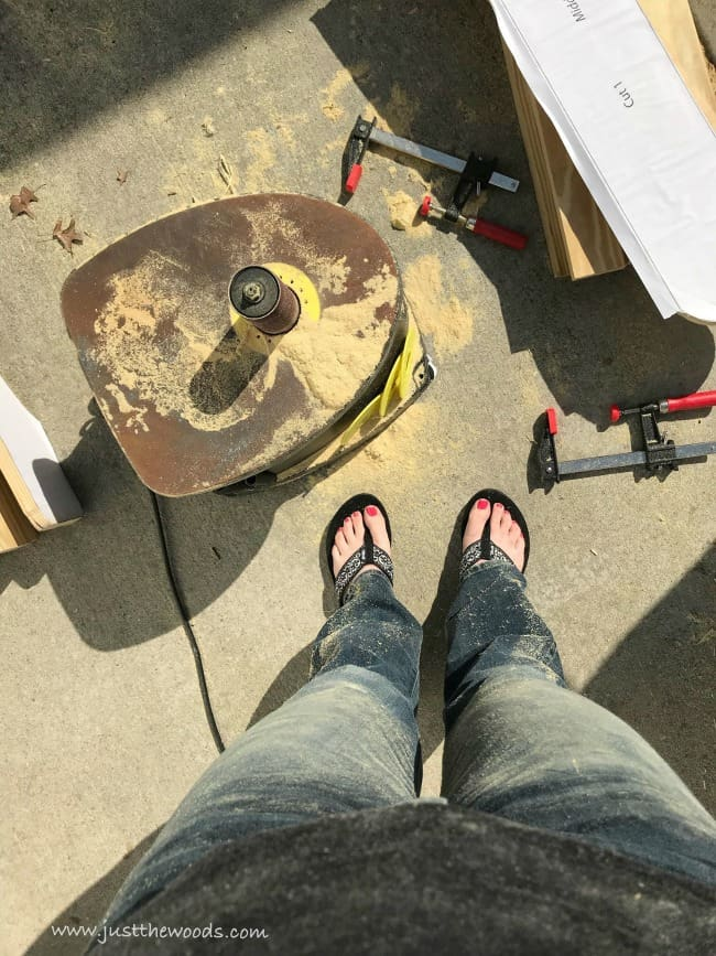 Build Adirondack Chairs, sawdust, sanding wood, wood adirondack chairs
