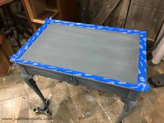 scotch blue tape, painters tape, painted table