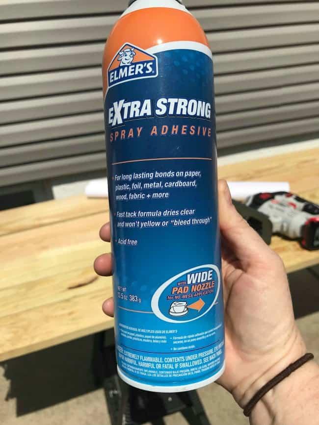 Build Adirondack Chairs, spray adhesive