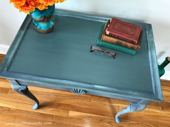 tea table makeover, painted vintage table, painted wood furniture