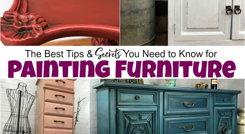 The Best Tips You Need to Know for Painting Furniture