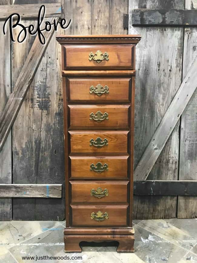 vintage lingerie chest, tall lingerie chest, painting a lingerie chest