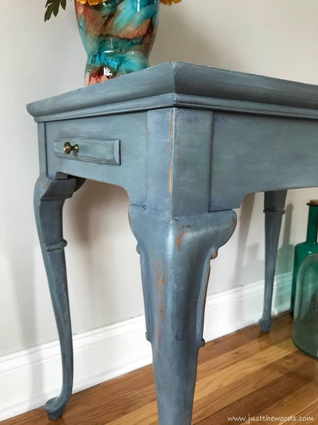 painted table, denim painted table, coastal painted table