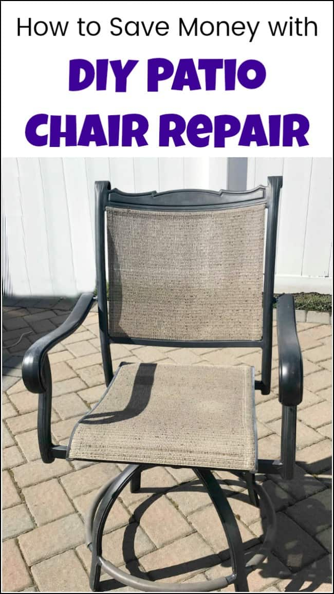 See How To Save A Ton Of Money With DIY Patio Chair Repair. Before You