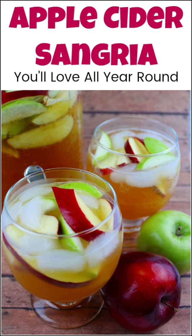 A simple and crisp apple cider sangria recipe that you can enjoy all year round. This apple cider sangria makes the perfect drink to serve at your next Summer BBQ or after a day off Autumn apple picking. Apple sangria is easy to make and your guests will love it. #applecidersangria #applesangria #cidersangria #howtomakesangria #sangriarecipe