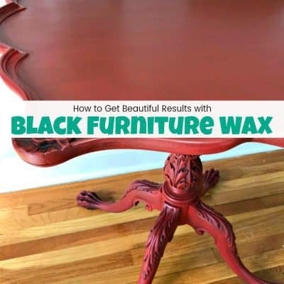 How to Get Beautiful Results with Black Furniture Wax