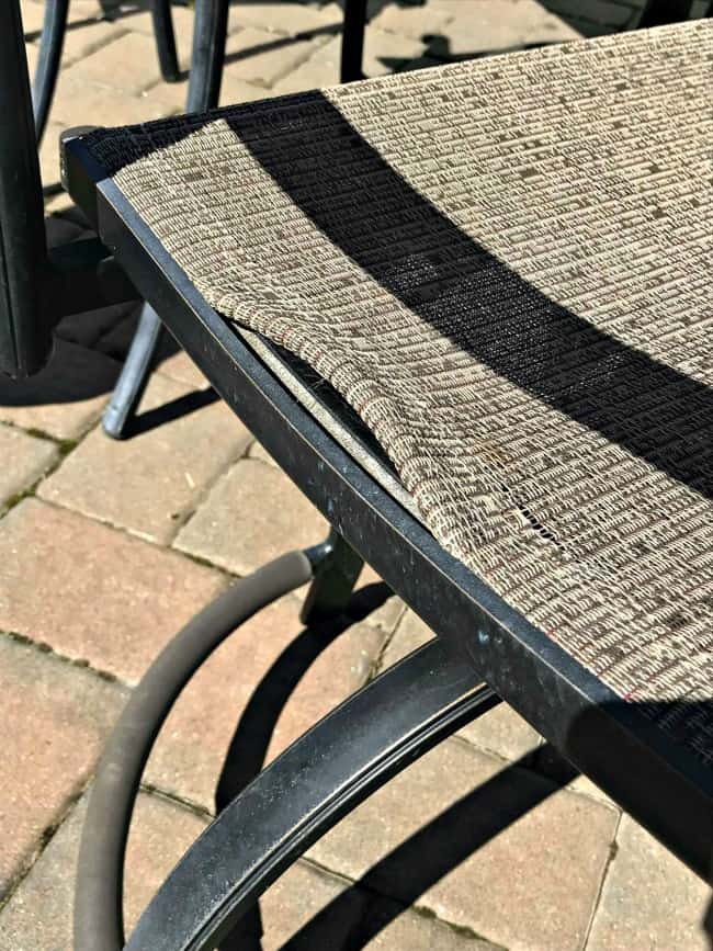 broken patio slings, fix patio chairs, patio chair repair