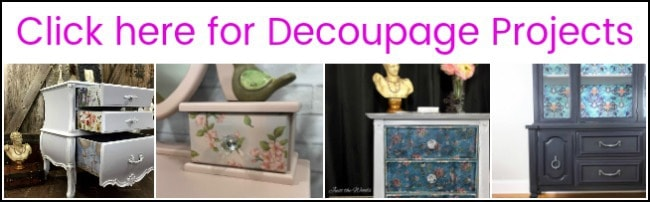 decoupage, decoupage furniture, how to decoupage