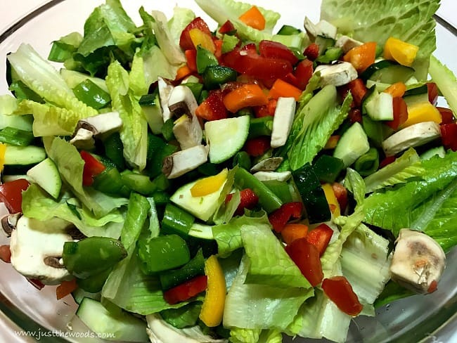 what goes in a garden salad, garden salad recipe ideas