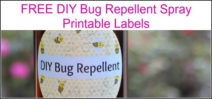 free printables, bug spray labels, diy insect repellent
