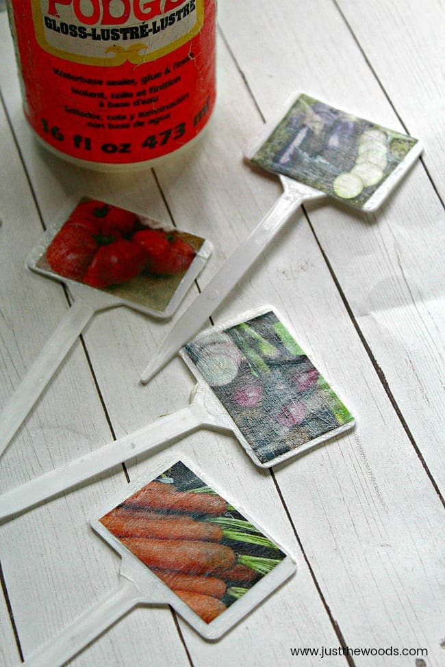 how to make garden labels, garden markers, garden plant markers