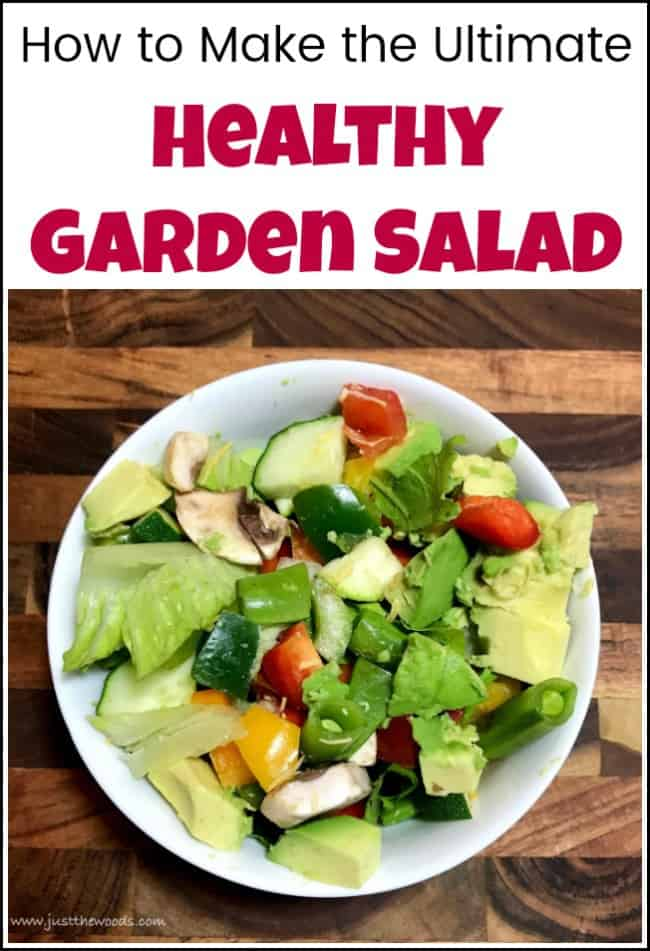 garden salad, Make an easy and healthy garden salad that actually tastes great. This garden salad recipe is fun, easy and bursting with flavor and color. With garden salad ingredients that you can mix and match there's no pressure to do it wrong. Using a variety of vegetables you can make it however you'd like. #gardensalad #gardensaladrecipe #easygardensalad #healthysalad
