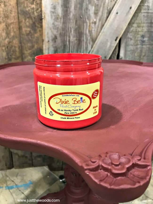 honky tonk red paint, dixie belle chalk paint