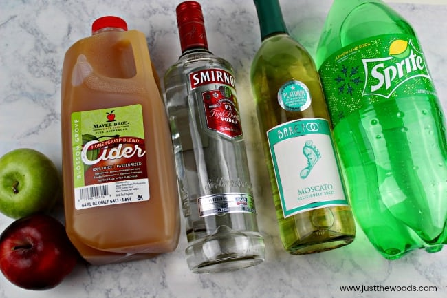 whats in apple cider sangria, how to make sangria, apple sangria with moscato