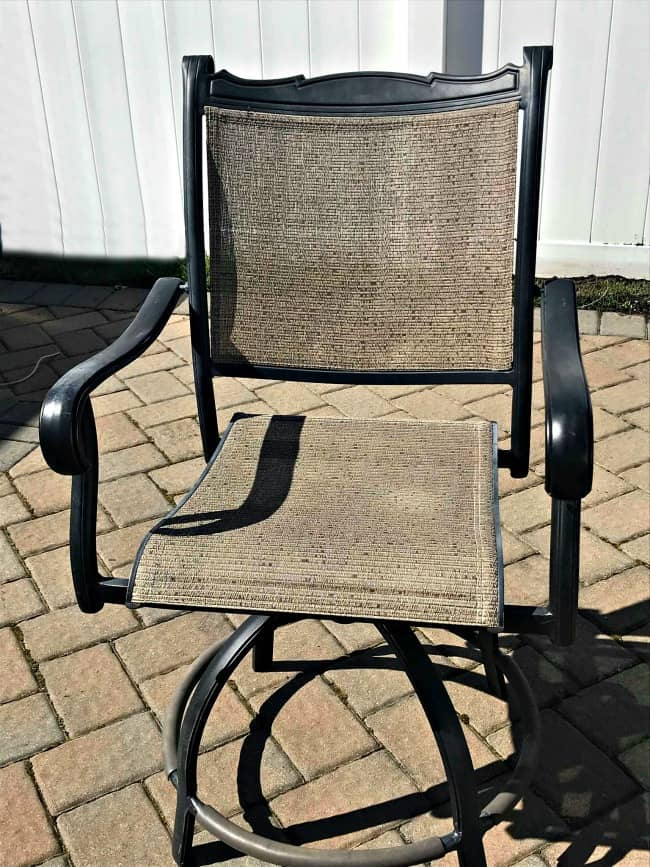 patio chair repaired, repaired broken patio chair