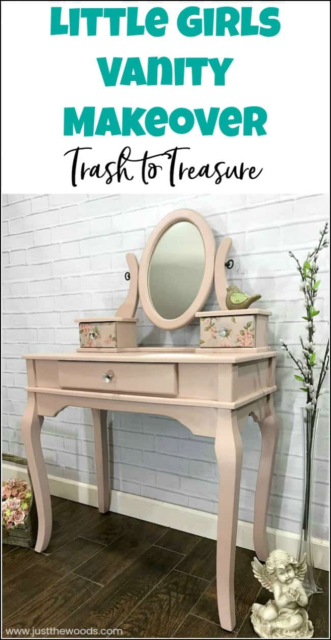 Little Girls Vanity Makeover From Trash To Treasure