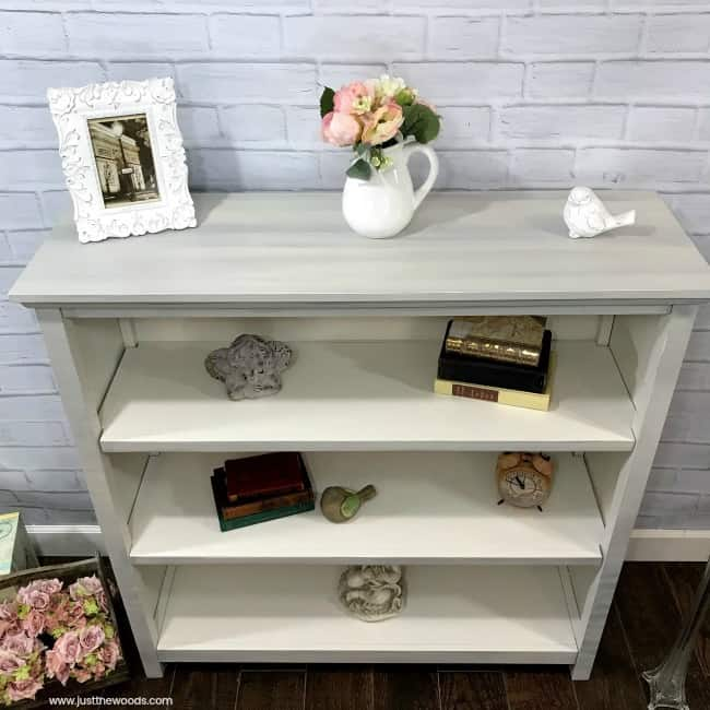 painted pottery barn furniture, pottery barn bookcase, painting over laminate